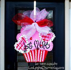 Valentine Cupcake Door Hanger