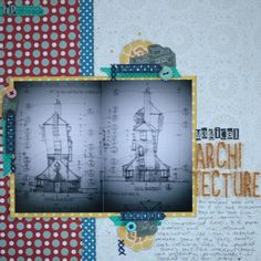 Sketch to Scrapbook Page with two 4x6 portrait photos VIDEO