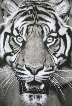 jaw drop by burnt-sticks on DeviantArt Tiger Face Tattoo, Tiger Tattoo Sleeve, Cheetah Tattoo, Tiger Tattoo Design, Tiger Design, Sleeve Tattoos, Tattoo Designs, Tigergesicht Tattoo, Grey Tattoo