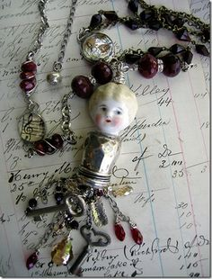 .porcelain doll parts jewelry