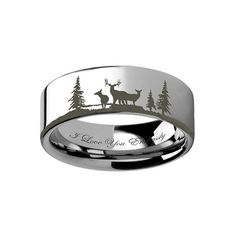 4mm-12mm Personalized White Mens Women Tungsten by RingsParadise