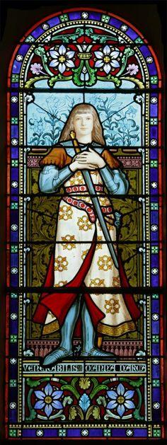 Exposition église : les vitraux de Lucien Bégule Vitrail de Jeanne d'Arc