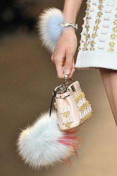 Best Fashion Week Accessories Spring Summer 2015 Fendi bag and key chains