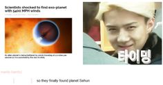 EXO home planet of Oh Sehun