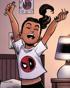 Ellie is the Captain of the Spideypool Fan Club