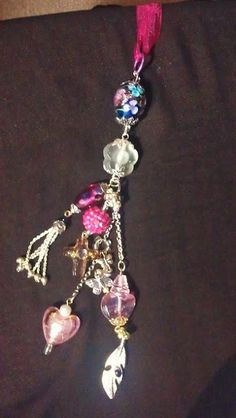 Rosy & Pinky Necklace Pendant Drop