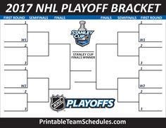 NHL Playoff Bracket 2017 Print Here - http://printableteamschedules.com/NHL/playoffs.php