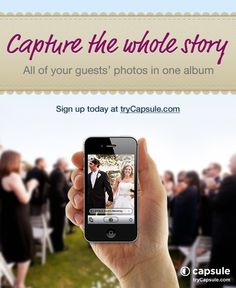 Wedding photo app - Capsule is the easiest way to get all the wedding photos taken by your guests into one group shared album.