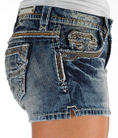 ☀NEW Women's ROCK REVIVAL Low Rise Jayna Stretch Denim Jean Shorts 31☀ #RockRevival #Denim #Rockrevivalshorts #shorts #bling #thickstitching #sexyshorts