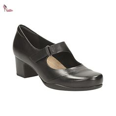 11de20131d8 Clarks Habillé Femme Chaussures Rosalyn Wren En Cuir Noir Taille 41 -  Chaussures clarks (