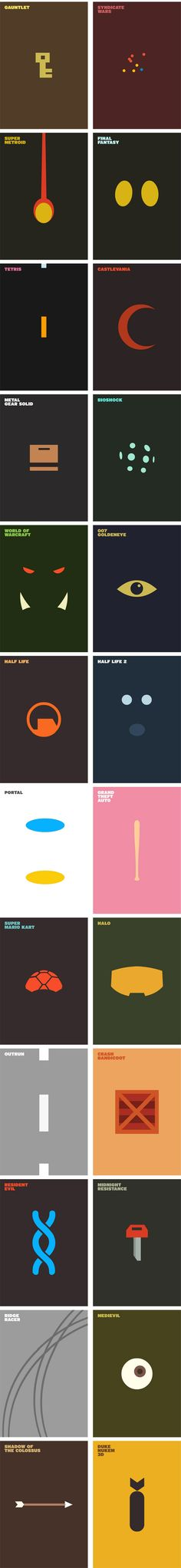 Posters games in minimalist version | Things for Geeks