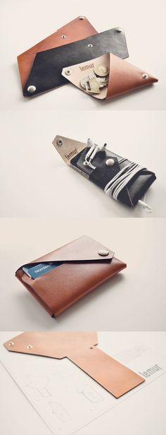 Lemur Leather Accessories Collage | Scandinavia Standard: