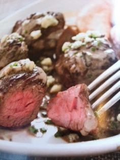Oven recipes done right: Steak Tips With Mushrooms and Blue Cheese Recipe