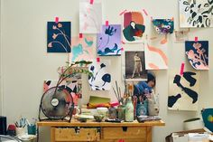 Illustrator Katy Smail Studio visit by Urban Outfitters Art Studio Design, Wall Design, Interior Work, Artist Studios, Rooms Home Decor, Pretty Art, Cozy House, Sell Your Art, Decoration