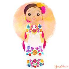 México colores y diseños de sus trajes típicos Yucatán