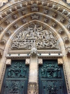 Prague: West portal of St St Vitus' cathedral at Prague Castle