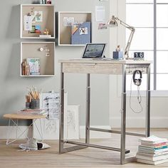 Discover Pottery Barn Teen's study desk ideas to create the perfect space for homework, projects, and more. Declutter your study area with stylish storage ideas and desk inspiration. Modern Home Office, Adjustable Standing Desk, Decor, Furniture, Modern Furniture, Home Office Design, Furniture Design Modern, Desk Inspiration, Office Design
