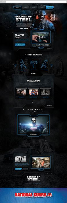 Soldier of Steel by Justin Carroll, via Behance #webdesign