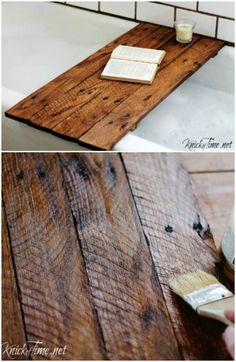 Looking for the perfect DIY project to transform your home this summer? One of the biggest trends in home décor right now is upcycling reclaimed wood. You can search for wood and reclaim it yourself Diy Wooden Projects, Reclaimed Wood Projects, Diy House Projects, Diy Furniture Projects, Repurposed Wood, Salvaged Wood, Pallet Projects, Furniture Design, Woodworking Wood