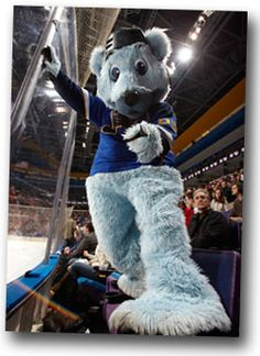 Louie the Saint Louis Blues Bear Mascot