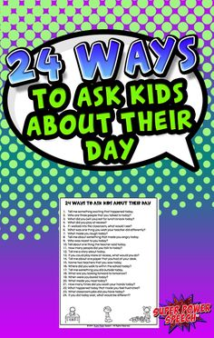 Increase children's oral communication skills by asking them direct questions about their school day! Oral Communication Skills, Wat Do, Language Activities, School Days, Classroom, This Or That Questions, Kids, Class Room, Young Children