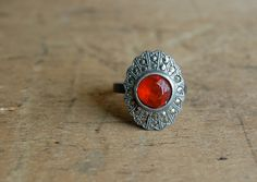 vintage cocktail ring / 1930s jewelry / by jeanjeanvintage on Etsy, $60.00
