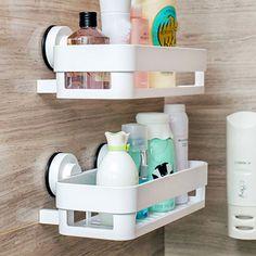 HOT-Wall-Stick-Type-Bathroom-Kitchen-Corner-Storage-Rack-Organizer-Duschregal Source by Shower Rack, Shower Storage, Shower Shelves, Bathroom Storage, Kitchen Storage, Kitchen Shelves, Corner Storage, Corner Shelves, Storage Rack