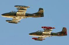 Two USAF Cessna A-37B dragonflies in Vietnam era paint.