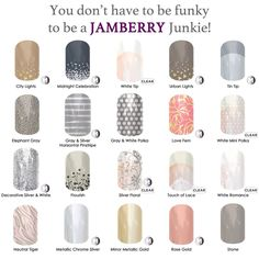 Nail wraps for the conservative side of you and great for weddings.  Shop now at http://taneshagambling.jamberrynails.net/shop