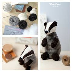 Learn how to crochet this wise old Badger using British aran wool. Follow the 'how to crochet' guide and detailed pattern and use the included hook to bring your Badger to life. Add unique needle felted features to really make it your own using the British felting wool and felting needle. Photo Credit: Holly Booth £32.95