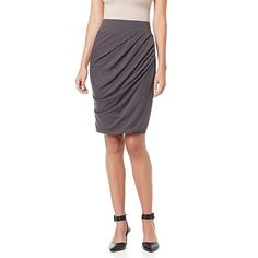 Shop NENE by NeNe Leakes Asymmetric Ruched Skirt, read customer reviews and more at HSN.com.