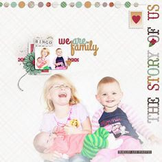 Layout using We Are Family by Juno Designs