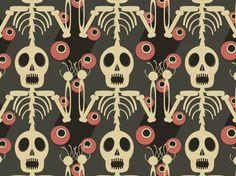 """""""Sorcery"""" by Wordofmouse 2011, APC, APC76, February, IF39, Japan, Mitsukini Defying the Skeleton Spectre, Utagawa Kuniyoshi"""