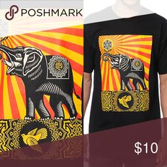 Obey Elephant Graphic Tee 100 percent cotton!!! Fitted Tee fits medium women's as well Obey Shirts Tees - Short Sleeve