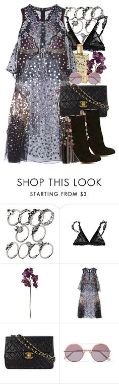 """""""Starry"""" by aurorakonstance ❤ liked on Polyvore featuring Urban Outfitters, REMINISCENCE, Pied a Terre, Mary Katrantzou, Chanel, Sunday Somewhere and Chloé"""