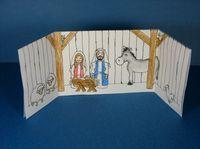 Paper nativity card
