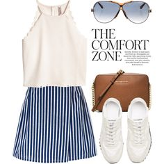 Casually Perfect in a Striped Skirt 3782