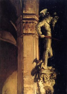 John Singer Sargent: Statue of Perseus by Night