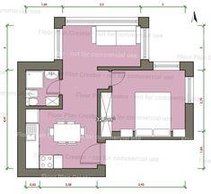 #casasminimalistasinteriores #casaspequeñasminimalistas Small Floor Plans, House Floor Plans, Small Dream Homes, Small Cottage House Plans, Studio Apartment Layout, Apartment Floor Plans, My Ideal Home, Australian Homes, Modular Homes