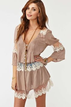 Ashbury Lace Top - Mocha | Shop What's New at Nasty Gal