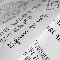 Day #68 of #365daysoflettering  Making flyers #handlettering #lettering #illustration #sketch #doodle #design