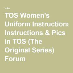 TOS Women's Uniform Instructions & Pics in TOS (The Original Series) Forum