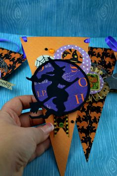 Garland in scrapbooking style for the upcoming Halloween