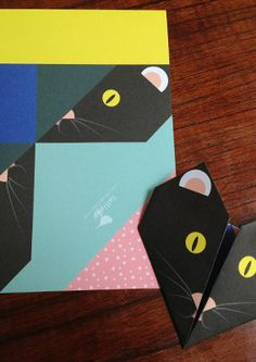 Origami Notepaper Set: Cat : lollipop : paper treats & more...