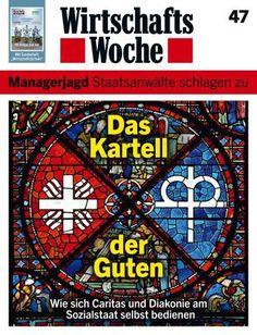 """WirtschaftsWoche-Cover """"Das Kartell der Guten"""" über Caritas und Diakonie: Das Mosaik ist eines der gelungensten Titelbilder der vergangenen Jahre (WiWo Nr. 47/2012)."""