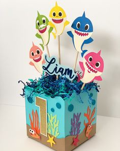 Birthday Parties Weddings & Engagements Baby Showers Other Celebrations & Events Shark Birthday Cakes, Baby Boy 1st Birthday Party, Dinosaur Birthday Party, Baby Party, First Birthday Parties, Birthday Party Themes, Princess Birthday, Birthday Ideas, Shark Party Decorations