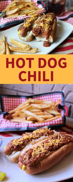 Homemade hot dog chili is easy to make and ready in just 5 steps! #HotDog