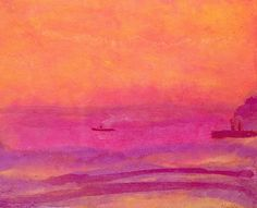 Seascape - Emil Nolde, just a master of color.