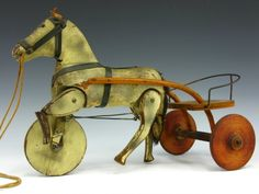 Victorian Trot-A-Way Prince Wooden Horse & Buggy