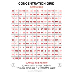 Concentration Grid mobile device app -www.concentrationgrid.com ... mental focus grids for athletes/students and coaches/teachers and sports performance/psychology professionals to use for mental skills training/conditioning and assessment